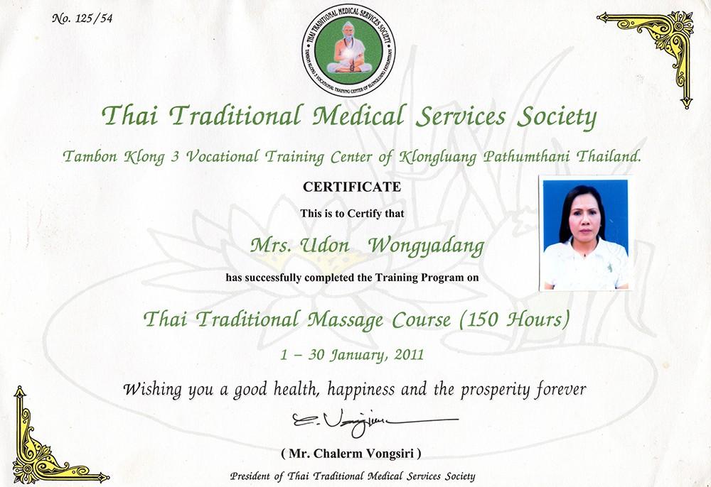 Thai Smile - Don - Certyfikat