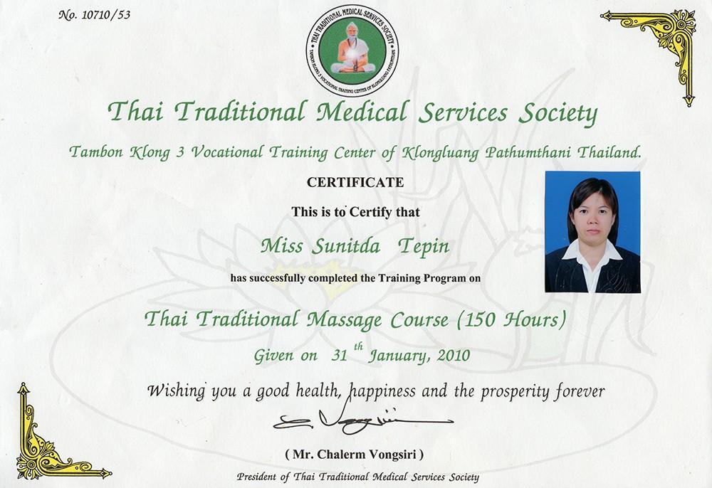 Thai Smile - Joy - Certyfikat
