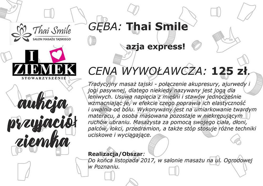 Działalność charytatywna Thai Smile 2017 - I love Ziemek 02