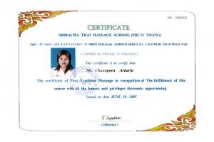 Thai Smile – Chanaporn Akkharin Certyfikat