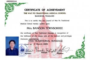 Thai Smile Bangon Tornsokree Certyfikat