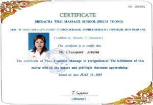 Thai Smile - Tai - Certyfikat